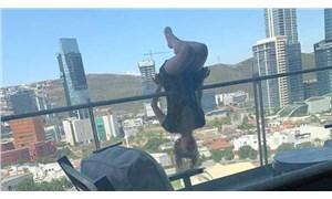 Yoga yaparken 24 metre yüksekten beton zemine düştü