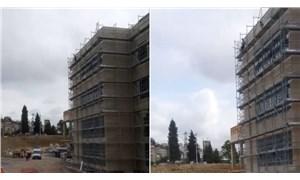 Maaşını alamayan Kocaeli Şehir Hastanesi inşaatı işçileri çatıya çıktı