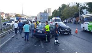 TEM bağlantı yolunda kaza: 1'i ağır, 4 yaralı