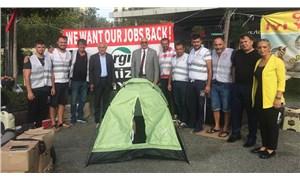 CHP'li Tanal'dan Cargill işçilerine çadırlı destek