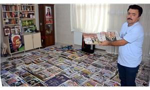 17 yıldır Erdoğan'ın yer aldığı gazeteleri biriktiriyor