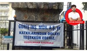 Aydın'da jeotermal şirketine teşekkür pankartı kaldırıldı