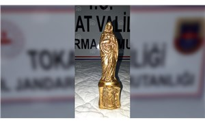 Tokat'ta bin 400 yıllık olduğu sanılan heykel bulundu