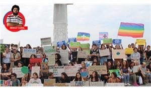 Liseli öğrenciler 'İklim Grevi' için Gündoğdu Meydanı'nda buluştu