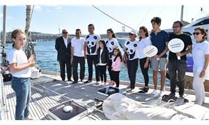 Beşiktaş Belediye Başkanı Akpolat, Blue Panda teknesini ziyaret etti