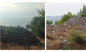 Eğirdir Gölü manzaralı çöplük!