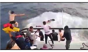 Botları su alan 39 göçmen kurtarıldı