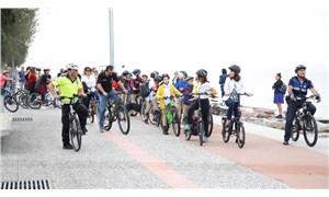Okula bisikletle gittiler