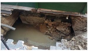 Ortaköy'de kumpircilerin altındaki kanal çöktü
