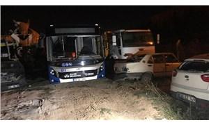 Borcunu ödeyemeyen AKP'li belediyenin otobüsü bağlandı