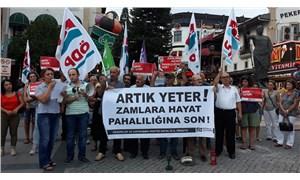 ÖDP Antalya İl Örgütü, elektrik zamlarını protesto etmek için eylem yaptı