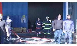 Ankara'da fabrikada yangın
