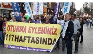 İzmir'de KHK'liler 117'nci haftada eylemde
