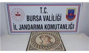 Bursa'da 100 bin dolarlık mozaik tablo ele geçirildi