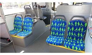İETT'den farkındalığı artırmak için özel desenli koltuklar