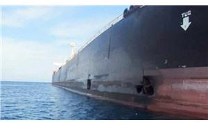 İran, Cidde açıklarında saldırıya uğrayan tankerin fotoğrafını yayınladı