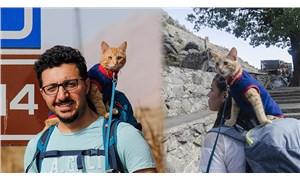 Sevimli 'Azman' otostopla Türkiye'yi geziyor