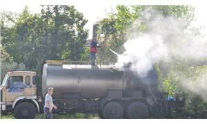 Sinop'ta zift yüklü tanker alev aldı
