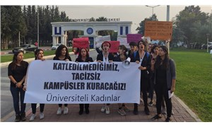 Ege Üniversitesi'nde tacize protesto