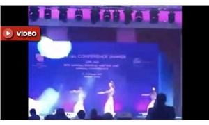 'Barış Pınarı Hârekatı' için düzenlenen gecede dansöz oynattılar