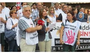 İzmir'de jiletle boğazı kesilen Dr. Kadir Songür için protesto