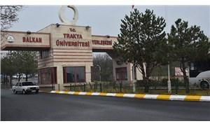 TrakyaÜniversitesi'nde kadın akademisyene saldırı anı kamerada