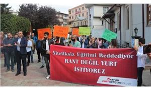 CHP Gençlik Kolları'ndan Artvin'de KYK protestosu