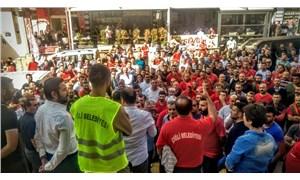 Çiğli Belediyesi işçilerinden maaş protestosu