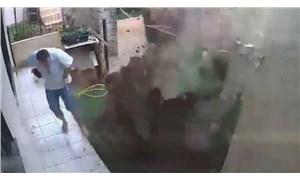 Hamam böceklerini öldürmek isterken bahçesini havaya uçurdu