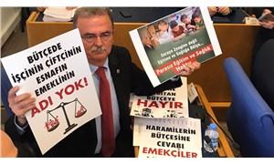 Plan Bütçe Komisyonu'nda pankartlı protesto