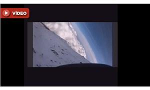 Fuji Dağı'na tırmanırken, düşerek kaybolan dağcının son görüntüleri