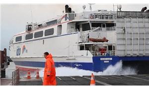 Marmara'da sağanak: Bazı deniz otobüsü seferleri iptal edildi