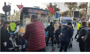 Beşiktaş'ta bir otobüs durağa daldı: 1 ölü, 12 yaralı