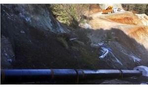 Sakarya'da HES inşaatı bölgesinde heyelan