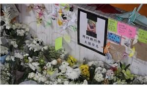 Hong Kong'da öldürülen öğrenci için anma