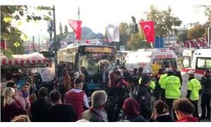 Beşiktaş'ta durağa dalan otobüs şoförünün kaza öncesi kamerayı kapattığı görüntüler ortaya çıktı