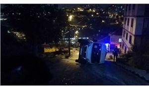 Eyüpsultan'da öğrenci servisi devrildi: 7 yaralı