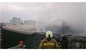 SÜTAŞ fabrikasında yangın: 1 işçi hastaneye kaldırıldı