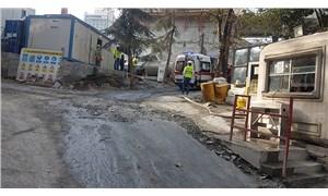 AKM inşaatında kaza: 1 işçi yaralandı