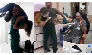 Köpüklü eğlence yapan hastane çalışanlarına soruşturma