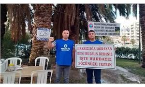 Aydın Büyükşehir Belediyesi'nde direniş sürüyor: 500 gün yetmedi mi!