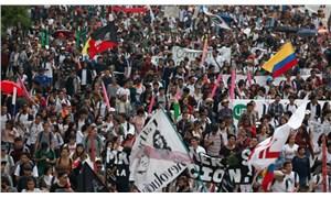 Kolombiya'da binlerce kişi eylemde