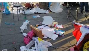 İYİ Parti standına saldırı