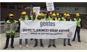 İnşaat işçileri hakları için direnişte