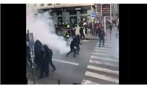 Fransa'da on binlerce kişi ayakta: Polis biber gazı ve sis bombasıyla saldırdı