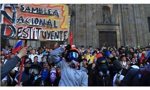 Kolombiya'da üçüncü genel grev: Hükümet karşıtı protesto düzenlendi