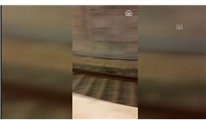 Marmaray treninin önünden kaçan tavşan görüntülendi