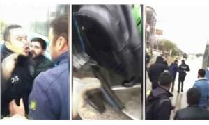 Polis trafikte tartıştığı otobüs şoförüne silah çekti