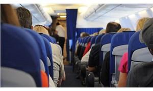 Uçakta yolcuyu akrep soktu