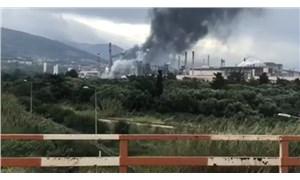 Hatay'da demir çelik fabrikasında meydana gelen patlamanın ardından çıkan yangın söndürüldü